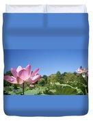 A Beautiful Emperor Lotus Blooms Duvet Cover