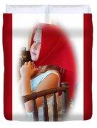 A Beautiful Girl Dreaming Duvet Cover