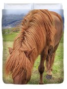 A Beautiful Red Mane On An Icelandic Horse Duvet Cover