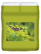 A Beautiful Swallowtail Butterfly On A Yellow Wild Flower Duvet Cover