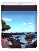 A Beautiful View Of The Sea From Mauritius Duvet Cover