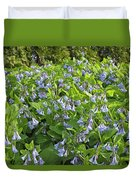 A Bed Of Bluebells Duvet Cover