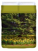 A Bed Of Narcissus Duvet Cover