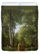 A Beech Wood In May Near Iselingen Manor Duvet Cover