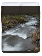 A Bend In The Flow Duvet Cover