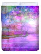 A Bewitching Purple Morning Duvet Cover