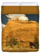A Big Mountainous Rock On The Gemini Trail Moab Utah  Duvet Cover