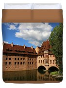 A Big Sky Over Old Architecture Duvet Cover