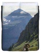 A Bighorn Sheep Ram, Ovis Canadensis Duvet Cover