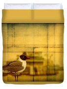 A Bird In New Orleans Duvet Cover