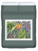 A Bird In Paradise Duvet Cover