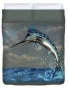 A Blue Marlin Flashes Its Iridescent Duvet Cover