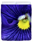 A Blue Pansy Duvet Cover