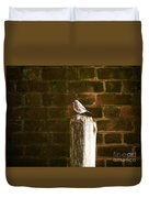 A Bluebird At The Governor's Palace Gardens Duvet Cover