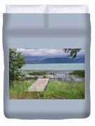 A Boardwalk To Bear Lake Duvet Cover