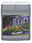 A Boat Load Of Zinnias Duvet Cover