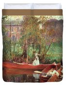A Boating Party  Duvet Cover by John Singer Sargent
