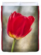 A Bold Red Embrace Duvet Cover