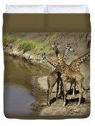 A Bouquet Of Giraffes Duvet Cover