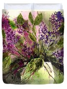 A Bouquet Of May-lilacs Duvet Cover