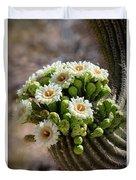A Bouquet Of Saguaro Blossoms Duvet Cover