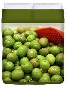 A Bowl Of Black Olives  Duvet Cover