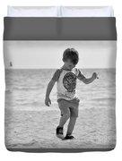 A Boy And His Beach Duvet Cover