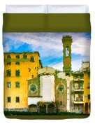 A Breeze Over Florence Duvet Cover