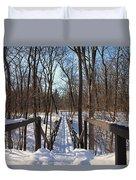 A Bridge At Wildwood Duvet Cover