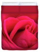 A Bright Pink Rose Close-up Duvet Cover