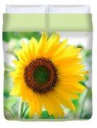 A Bright Yellow Sunflower Duvet Cover