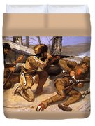 A Brush With The Redskins 1891 Duvet Cover