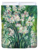 A Bunch Of Orchid Paintings Duvet Cover