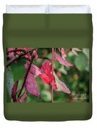A Bunch Of Red Leaves Duvet Cover