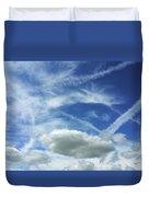 A Busy Sky Duvet Cover
