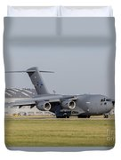 A C-17 Globemaster Strategic Transport Duvet Cover