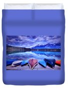 A Calm Afternoon At Lake Edith Duvet Cover