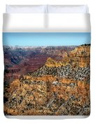 A Canyon Winter Duvet Cover