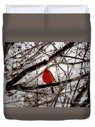 A Cardinal In Winter Duvet Cover