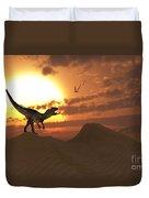 A Carnivorous Allosaurus Calling Duvet Cover