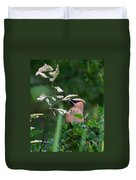 A Cedar Waxwing Facing Left Duvet Cover