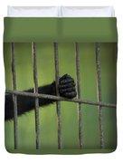A Celebes Macaque Macaca Nigra Holds Duvet Cover