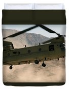 A Ch-47 Chinook Helicopter Kicks Duvet Cover