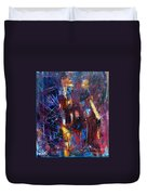 A Chance Meeting In The City Duvet Cover