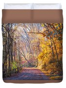 A Change Of Seasons On Forbidden Drive Duvet Cover