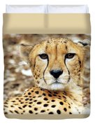 A Cheetah's Portrait Duvet Cover