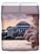A Cherry Blossom Dawn Duvet Cover by Lois Bryan