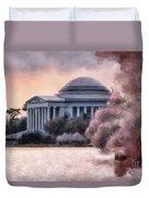 A Cherry Blossom Dawn Duvet Cover