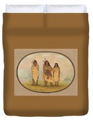 A Cheyenne Chief His Wife And A Medicine Man Duvet Cover