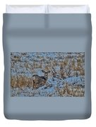 A Christmas Day Young Buck Duvet Cover